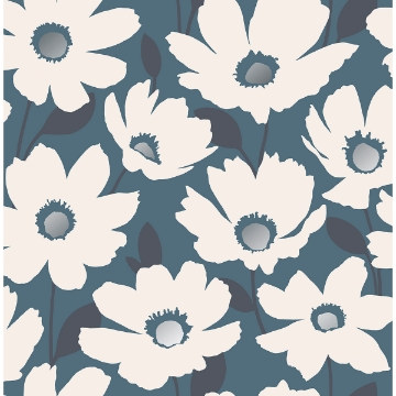 Picture of Mia Navy Floral Wallpaper