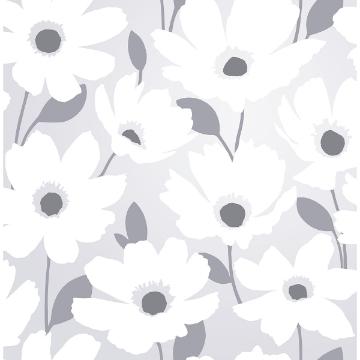 Picture of Mia Silver Floral Wallpaper