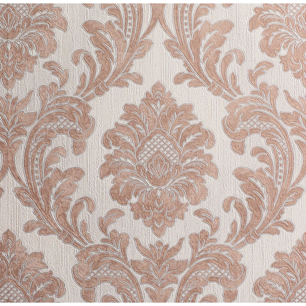 Picture of Milano Copper Damask Wallpaper