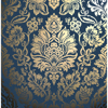 Picture of Platinum Navy Damask Wallpaper