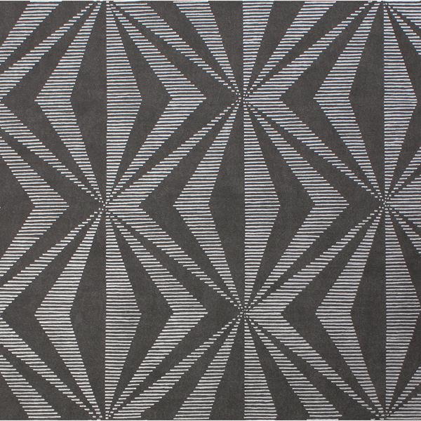 Picture of Precision Charcoal Diamond Geo Wallpaper