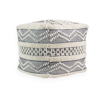 Picture of Lacy Grey Pouf Decorative Object