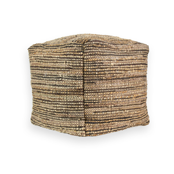 Picture of Striped Neutral Pouf Decorative Object
