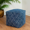 Picture of Dotted Blue Pouf Decorative Object