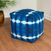 Picture of Shibori Blue Pouf Decorative Object