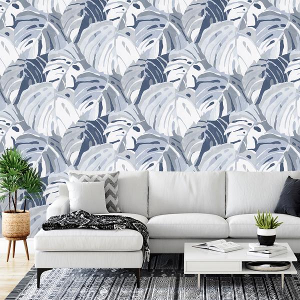 Picture of Castaway Ocean Blue Wall Mural