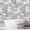 Picture of City Views Dove Grey Wall Mural