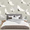 Picture of Crane You Later Dove Grey Wall Mural