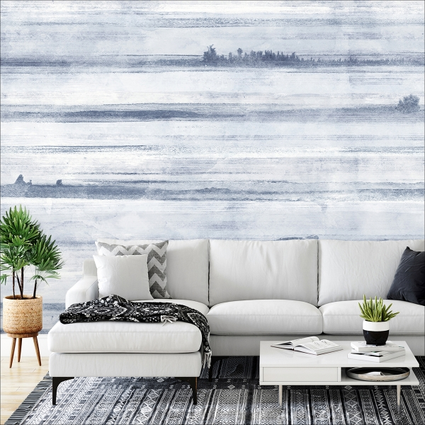 Picture of Jet Set Ocean Blue Wall Mural