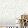 Picture of Maze Dove Grey Wall Mural
