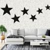 Picture of Terrazzo Stars Black on Dove Grey Wall Mural
