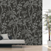 Picture of Storybook Forest Charcoal Grey Wall Mural