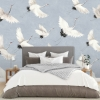 Picture of Crane You Later Ocean Blue Wall Mural