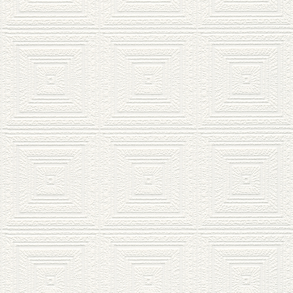 Picture of Wright White Tin Paintable Wallpaper