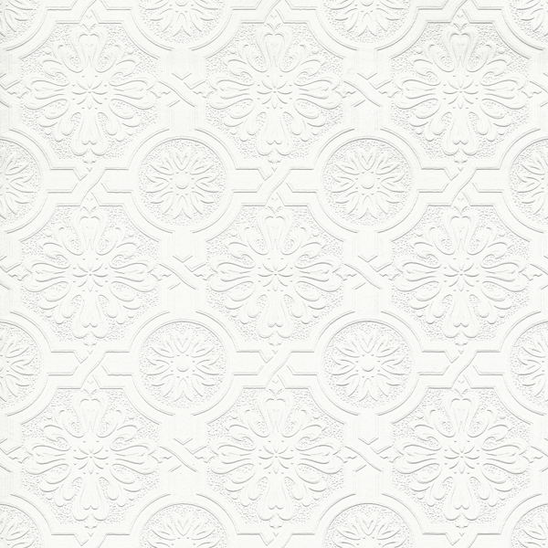 Picture of Victorian White Tin Ceiling Paintable Wallpaper