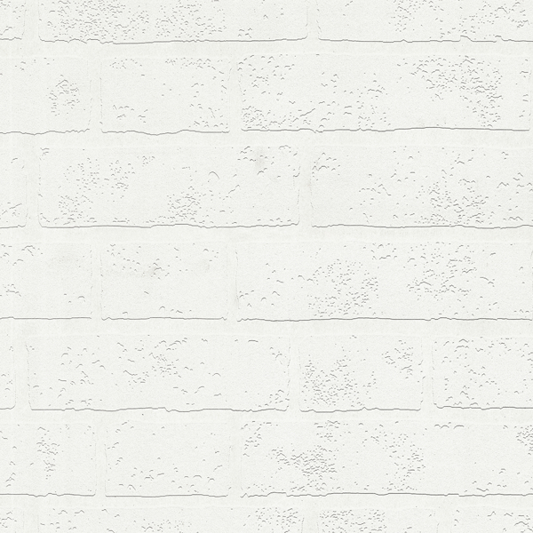 Picture of Bridgers White Exposed Brick Wall Paintable Wallpaper