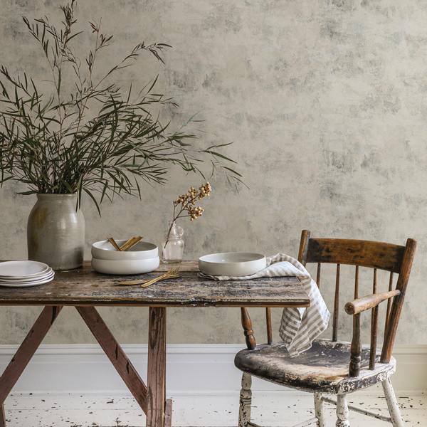 Picture of Artisan Plaster Grey Texture Wallpaper