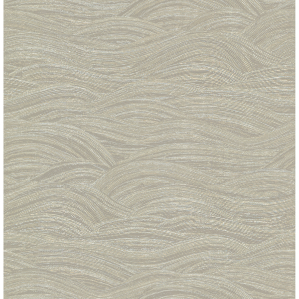 Picture of Leith Taupe Zen Waves Wallpaper