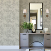Picture of Odell Silver Antique Tiles Wallpaper