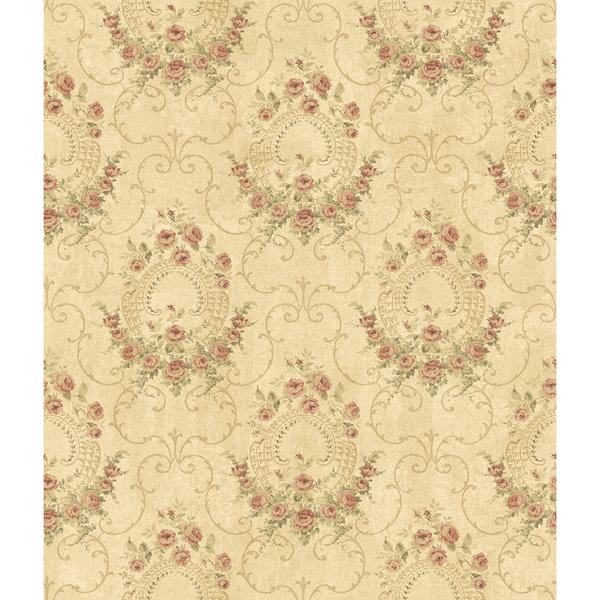 Picture of Georgiana Red Tearose Wallpaper
