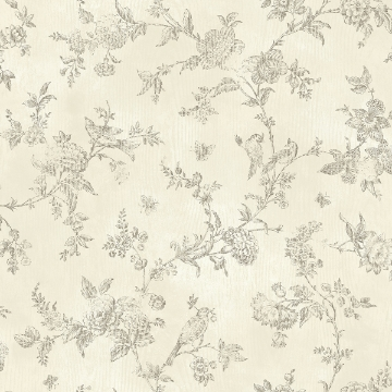Picture of French Nightingale Brown Trail Wallpaper