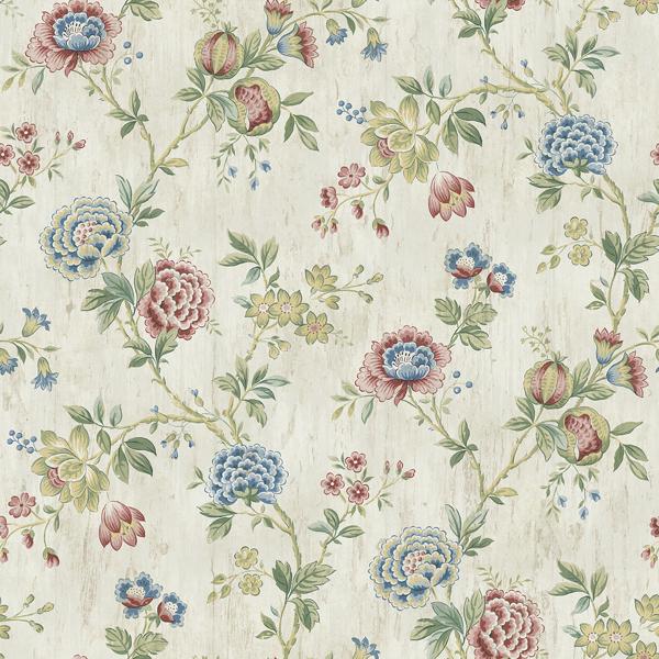 Picture of Chrysanthemum Multicolor Jacobean Wallpaper