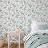 Picture of Chrysanthemum Teal Jacobean Wallpaper