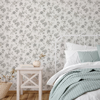Picture of Chrysanthemum Grey Jacobean Wallpaper
