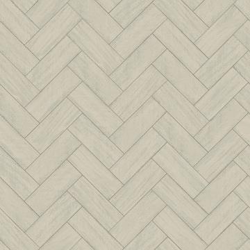 Picture of Kaliko Green Wood Herringbone Wallpaper