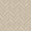 Picture of Kaliko Taupe Wood Herringbone Wallpaper