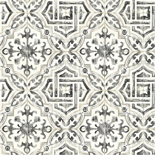 Picture of Sonoma Black Spanish Tile Wallpaper