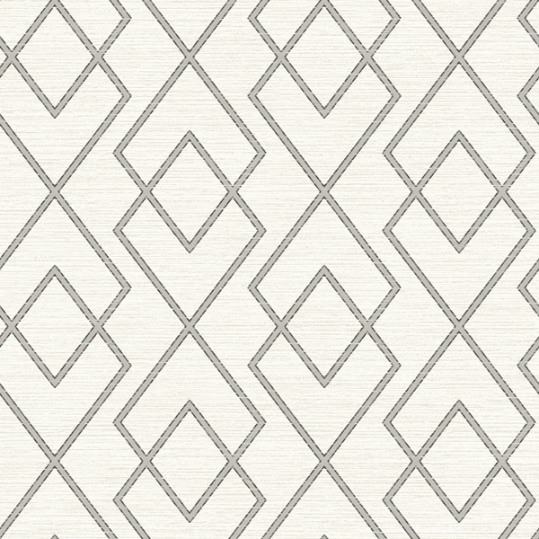 Picture of Blaze Grey Trellis Wallpaper