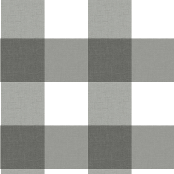 Picture of Amos Charcoal Gingham Wallpaper
