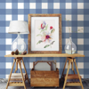 Picture of Amos Navy Gingham Wallpaper