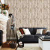 Picture of Harley Khaki Weathered Wood Wallpaper