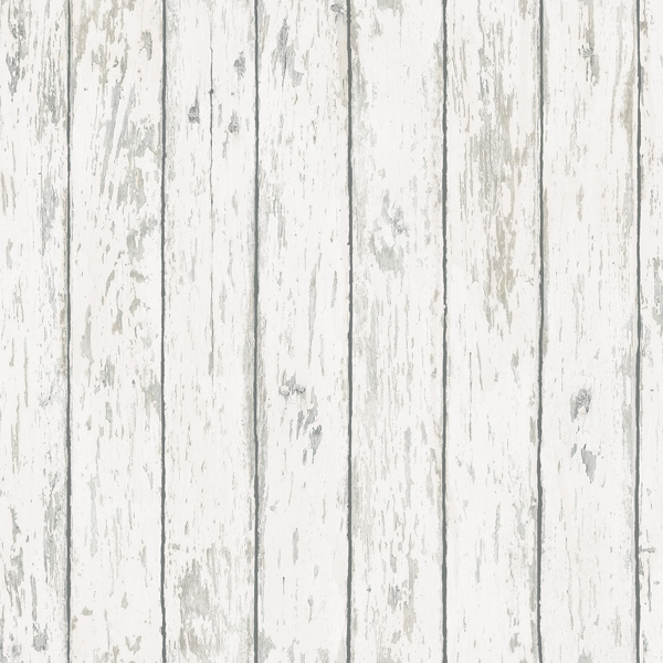 Picture of Harley Off-White Weathered Wood Wallpaper