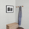 Picture of Whiskers Light Grey Leaf Wallpaper