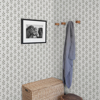 Picture of Whiskers Dark Grey Leaf Wallpaper