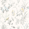 Picture of Imperial Garden Grey Botanical Wallpaper