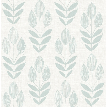 Picture of Garland Teal Block Tulip Wallpaper
