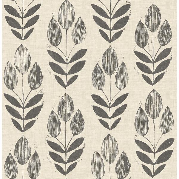 Picture of Garland Black Block Tulip Wallpaper