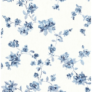 Picture of Cyrus Blueberry Festive Floral Wallpaper