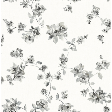 Picture of Cyrus Charcoal Festive Floral Wallpaper