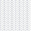 Picture of Bison Blue Herringbone Wallpaper