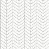 Picture of Bison Dark Grey Herringbone Wallpaper