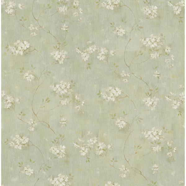 Picture of Braham Aqua Floral Trail Wallpaper