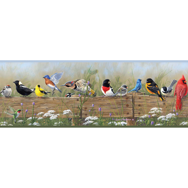 Picture of Flock Multicolor Menagerie Border