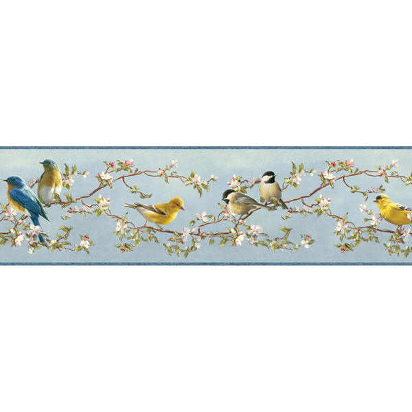 Picture of Songbird Sky Blue Trail Border