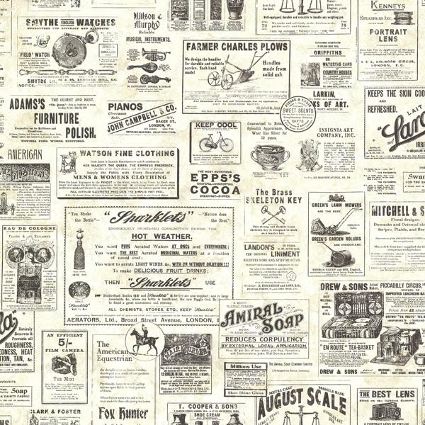 Picture of Adamstown Cream Newspaper Classifieds Wallpaper