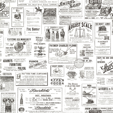 Picture of Adamstown Ivory Newspaper Classifieds Wallpaper